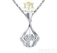 elmas testi toptan satış-Kadınlar için lüks kolye Katı 18 K Beyaz Altın Moissanite Kolye Testi Kadınlar Için Pozitif Moissanites Elmas Düğün Takı