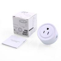 interruptor de salida wifi al por mayor-WiFi Smart Plug Home El interruptor de salida inteligente funciona con Amazon Control remoto inalámbrico Socket Control remoto inteligente de voz