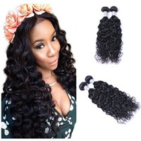 Wholesale ship human hair extensions for sale - Group buy Brazilian Virgin Human Natural Wave Hair Weave grams piece Body Wavy Hair Natural Black Hair Extensions With