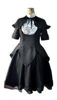 madoka magica cosplay venda por atacado-Puella Magi Madoka Magica Cosplay Homura Akemi Gothic Vestido Lolita