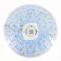 panel circular led 12w al por mayor-12W 18W 24W accesorio de techo LED anillo círculo luces del círculo 5730 LED redondo tablero de techo lámpara circular con imán tornillo + conductor