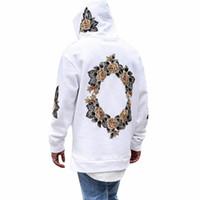 ingrosso maglione stampato-Cool Men New Design Pullover Autumn Flower Stampa Hoodies Hip Hop Men Hooded Sweatershirt da uomo Streetwear Hombres Sudaderas