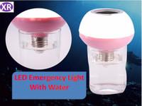 lâmpadas de música bluetooth venda por atacado-Nova Inteligente de Emergência Bluetooth Music Bulb Com Água 7 W Luz de Emergência Ao Ar Livre RGB RGB Lâmpadas de Controle Remoto E27 NO7 DHL