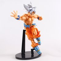 Wholesale figuarts zero - Dragon Ball Z Super Ultra Instinct Doll PVC Son Gokou Action Figure Novetly Toy Collectible Figuarts Zero Gift Model 30rs YY