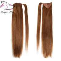 Wholesale ponytails hairstyles for sale - Group buy Evermagic Ponytail Human Hair Remy Straight European Ponytail Hairstyle g Natural Hair Clip in Extensions
