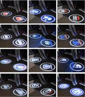 lazer logosu bmw açtı toptan satış-BMW Volkswagen Audi, Volvo Land Rover Cadillac Destek OEM için CREE LED Projektör Araba Kapı Işıklar Gölge Puddle Nezaket Lazer LOGO Lambası