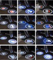 luz de sombra de laser de porta de carro venda por atacado-CREE LED Luzes Da Porta Do Carro Projetor Sombra Poça Cortesia LOGOTIPO Do Laser Da Lâmpada para BMW Volkswagen Audi Volvo Land Rover Cadillac OEM Suporte