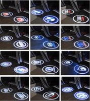audi logosu led ışıkları toptan satış-CREE LED Projektör Araba Kapı Işıkları Gölge Puddle Nezaket Lazer LOGOSU BMW Volkswagen Audi Volvo Land Rover Cadillac için Destek OEM