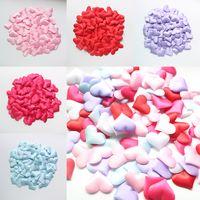 Wholesale Hearts Confetti - 100pcs bag Hearts Simulation Petals Wedding Valentine Day Decoration DIY Table Petals Party Confetti Artificial Flower Petals WX9-271