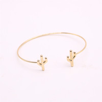 Wholesale plated deserts - Desert plant bangles for girls Drought resisting cactus women bangles Retail and wholesale mix Free shipping
