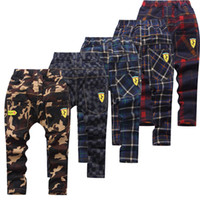 pantalones de camuflaje para niños al por mayor-Famli Teenage Boy Clothing Niños Pantalones de camuflaje Niños Pantalones Niños Pantalones Camo Pantalones Niños Tartán Tamaño 4 6 8 10 12 14