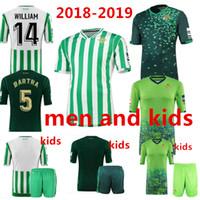 echt c großhandel-2018 2019 REAL BETIS Fußball Jersey 18 19 Heim weg 3. JOAQUIN WILLIAM BOUDEBOUZ C. TELLO A. GUARDADO Qualitätsfußball-Hemden Kinder Jersey