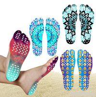 Wholesale thermal soles online - Beach Invisible Anti Slip Insoles Starry Emoji Smile Mandala Nakefit Thermal Insulation Waterproof Soles Stick On Feet Pads Socks OOA2264