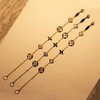 cazibe bilezikleri için zincirler toptan satış-Üst marka adı ile 316L paslanmaz çelik charm bilezik zinciri whiteshell kadınlar için Marka takı ücretsiz kargo PS5201