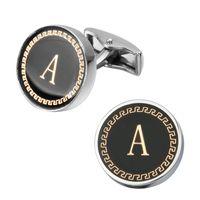 hochwertige Manschettenknöpfe Herrenhemd Manschettenknopf Roségold Silber Gold Kupfer Rundschreiben stempeln, M Black Magnetismus Tintenroller