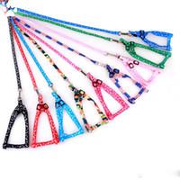 ingrosso guinzaglio nero guidato-1.0 * 120cm Dog Harness Guinzagli in nylon stampato regolabile Pet Dog Collar Puppy Cat Animali Accessori Pet Collana Corda Tie Collare