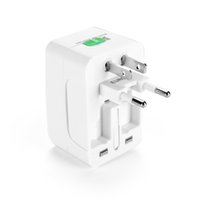 Wholesale international world travel adapter resale online - All in One Universal International Plug Adapter World Travel AC Power Charger Adaptor with AU US UK EU converter Plug