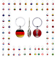 Wholesale fan graphics - Flag Key chain 2018 world cup football fans gift key rings handmade both sides with graphics freeshipping by DHL