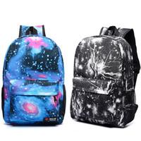 sacs à dos femme galaxy achat en gros de-Sac à dos de mode Galaxy Stars Univers Space Space Backpacks Pour les femmes hommes sac à dos scolaire Sac de voyage en plein air