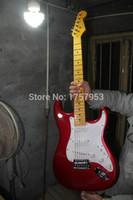 Wholesale st custom shop guitar resale online - Factory custom shop Newest Custom Candy Apple Red ST electric guitar HAI stratocaster56