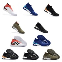 Wholesale gold tango shoes - New Top Quality Predator Tango 18+ TR Boost Shoes Training shoes Soccer Shoes Mens Outdoor Soccer Cleats