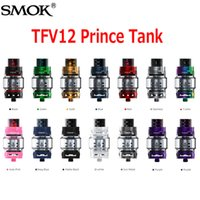 Wholesale X6 Atomizer Tank - Original SMOK TFV12 Prince Cloud Beast Tank 13 Colors 8ml Sub Ohm Atomizer Wide Bore Drip Tip Fit V12 Q4 X6 M2 T10 Coil 100% Authentic