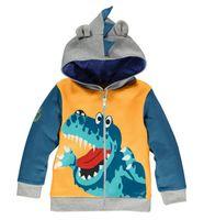 pulls de dinosaure achat en gros de-2018 Printemps Nouveau Enfants Sweat Manteau Bébé Garçons Vêtements Crocodile Dinosaur Zipper Veste À Capuche Animal Modélisation