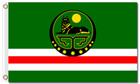 Wholesale posters banners - Chechen National Flag 90x150cm 100D Polyester Fabric Posters 3x5ft All Countries Official Standard Banners Prints Decoration