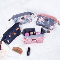 kits d'anime achat en gros de-Imprimé Fleur Flamingo Maquillage Sacs Portable Étanche Sac De Lavage De Voyage Orgainzer Sac De Stockage 4 Styles De Trousse De Toilette