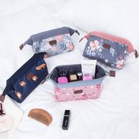 Wholesale travel makeup trunk for sale - Group buy Printed Flower Flamingo Makeup Bags Portable Waterproof Travel Wash Bag Orgainzer Storage Bag Styles Toiletry Kits