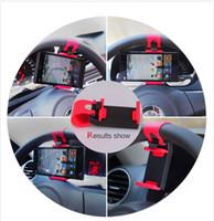 iphone jant toptan satış-Araba Direksiyon telefon klip Tutucu evrensel cep telefonu Klip Dağı araç Tutucu forMobile iphone samsung Cep Telefonu GPS
