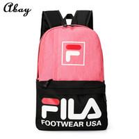 mochilas rosa venda por atacado-2018 Nova Carta Mochila Funnly VS Amor Rosa Backpack Viagem Softback School Bag Escola Para Meninas Bagpack