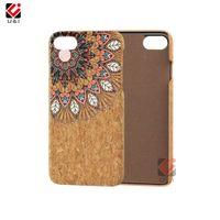 Wholesale wood cork case - Mandala series print cork wood cell phone cases for iPhone 6 7 8 10 6plus 7plus 8plus x i6 plus original back cover