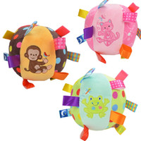 baby rattle ring Canada - Cartoon Baby plush Ball toys colorful softy Rattle Mobile ring bell Toy brinquedos juguetes para bebes jouet WJ531