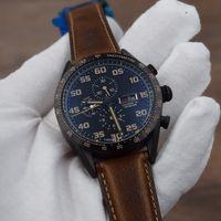 41086770ada pulseira preta venda por atacado-Homem de luxo relógios de aço preto shell  CALIBRE 16