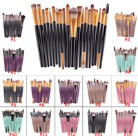 Wholesale 15 Tool - 15 20 pc set Make up pincel Cosmetic Makeup Brushes Set Eyes &Lips Eyeshadow Eyeliner Lip Brush eyeshadow brushes cosmetic tools Set Kits