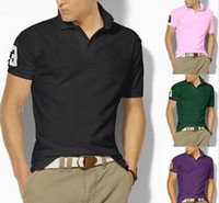 Wholesale organic coat - 2018 new high quality Summer Hot Sale Polo Shirt new Brand 21 color Polos Men Short Sleeve Sport Polo Man Coat Drop Free Shipping