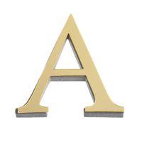 espelhos de etiqueta de ouro venda por atacado-26 letras diy 3d espelho acrílico adesivos de parede decalques home decor wall art mural 2017 novo adesivos arte decalques cores do ouro