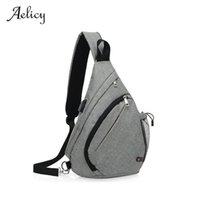 sacos de lona para homens venda por atacado-Aelicy USB Design Peito Saco MenFemale Sling Bag Carteira Bolsa de Grande Capacidade Lona Multi-Função de Compras Crossbody