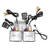 fernkamera-sender großhandel-2,4 GHz Extender Wireless AV Sender Empfänger Kompatibel, DVR, CCD Kamera IR Remote 150m