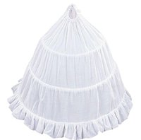 Wholesale Tutus For Flower Girls - 3 Hoop Flower Girl Crinoline Skirt with Ruffle Edge Stock Dance Party Skirt Outwear Skirt Tutu White Crinoline Petticoat for Girls