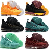 Wholesale New Style Basketball Shoes - 19 Colors Available New James 15 Ashes Or Oreo Basketball Shoes Hot Sale Classic Style Black White Signature Shoes Outdoor Sneaker