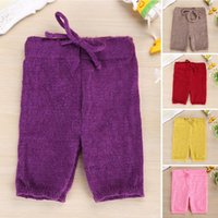 Wholesale purple mohair - Brand New Baby Clothing Infant Newborn Mohair Pants Photography Props Solid Color Hollow Out Cotton Pant Free Size Baby Trousers