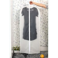 ingrosso coperte trasparenti-Custodia trasparente per guardaroba Custodia appesa per abiti Indumento abito Coprispalle Copri antipolvere Custodia da viaggio con cerniera