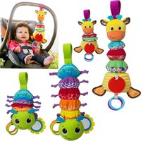 Wholesale musical bedding for sale - Lovely animal musical developmental toy bed stroller baby gift soft toys rattle baby car around hanging bell rattle