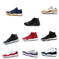 ingrosso nero 11s-Commercio all'ingrosso 11 Prom Night Gym Red Midnight Navy Nero Stingray Bred Concord Space Jam Shoes 11s Mens Womens Kids Basketball Sneaker