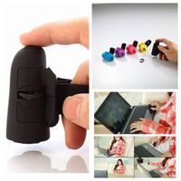 ingrosso mouse mouse dito ottico-5colors Mini USB Wireless Lazy Finger Rings 2,4 GHz USB Wireless Anelli di barretta Mouse ottico Mouse da tavolo portatile FFA589 6PCS