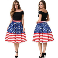 005f9b71d9 Venta al por mayor de Blue Red Skater Skirt - Comprar Blue Red ...