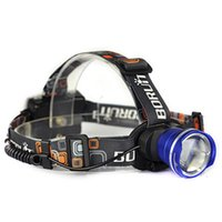 faros de camping de alta potencia led al por mayor-NUEVO Head Lamp Rechargeable Camping LED de alta potencia 2000Lm Zoom faro Headlight Linterna Frontal Head Lamp