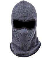 männer gesicht maske winter großhandel-Staubdicht Radfahren Gesichtsmaske Winddicht Winter Wärmer Fleece Bike Full Face Schal Maske Hals Fahrrad Snowboard Ski Männer
